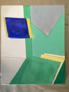 Ölbild gelb blau 1