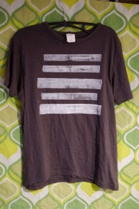 Tshirt white stripes small